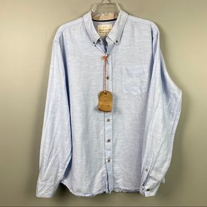 NWT Weatherproof Vintage Linen Button Down Large